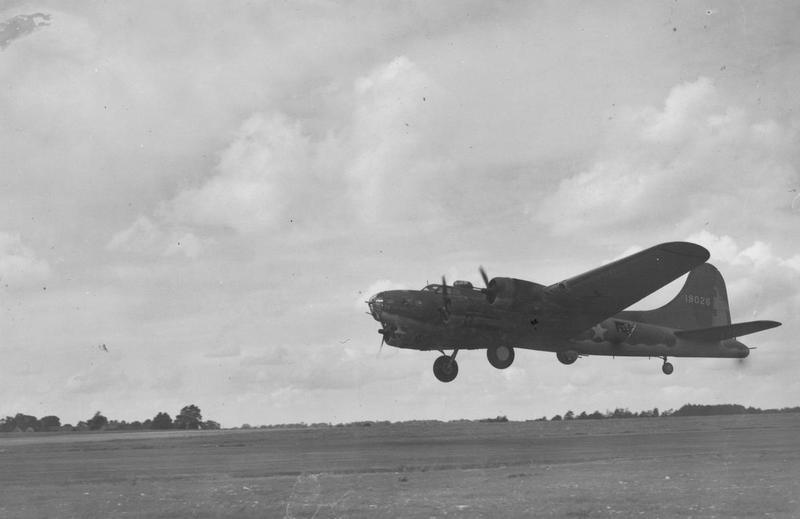 The B-17 Flying Fortress (serial number 41-9026) nicknamed