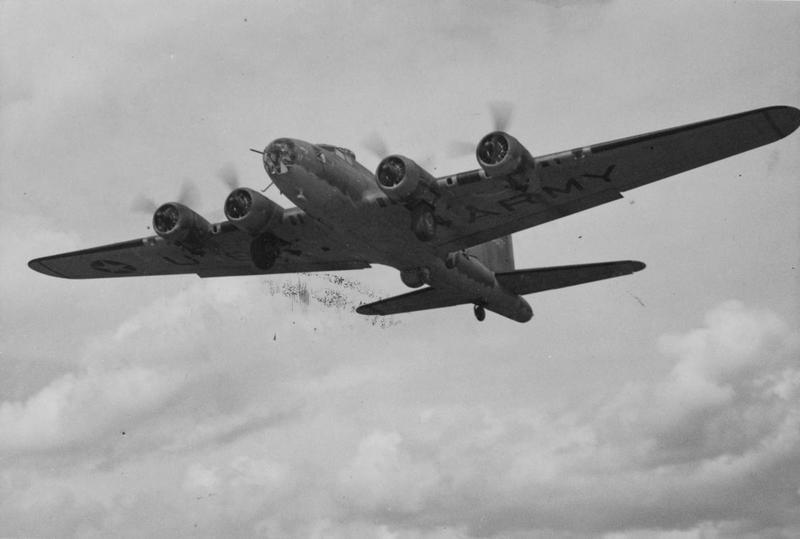 A B-17 Flying Fortress (serial number 41-9017) nicknamed