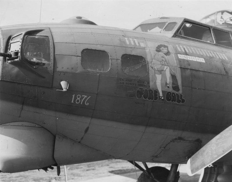 The nose art of a B-17G Flying Fortress nicknamed