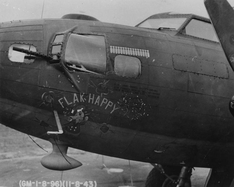 The nose art a B-17F Flying Fortress (AW-Y, serial number 42-30367) nicknamed