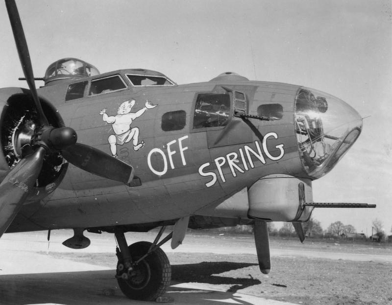A B-17 Flying Fortress (serial number 42-31917) nicknamed