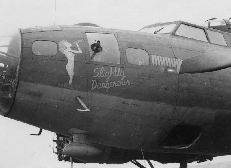 The nose art of a B-17 Flying Fortress nicknamed