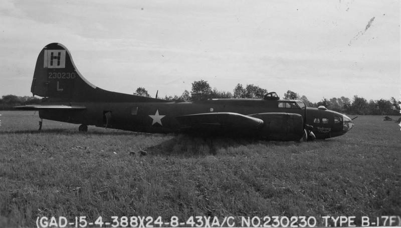 A crashed B-17F Flying Fortress ( serial number 42-30230) nicknamed