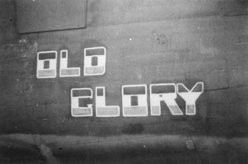 The nose art of a B-24 Liberator (serial number 42-100372) nicknamed