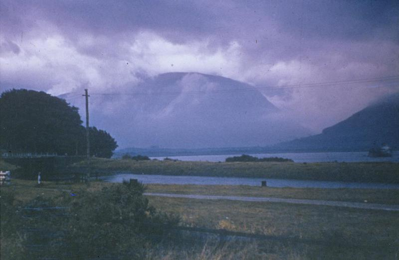 Ben Nevis, Scotland September 1944. Image by Robert Sand, 55th Fighter Group. Written on slide casing: 'Ben Nevis, Scotland Sept 1944.'