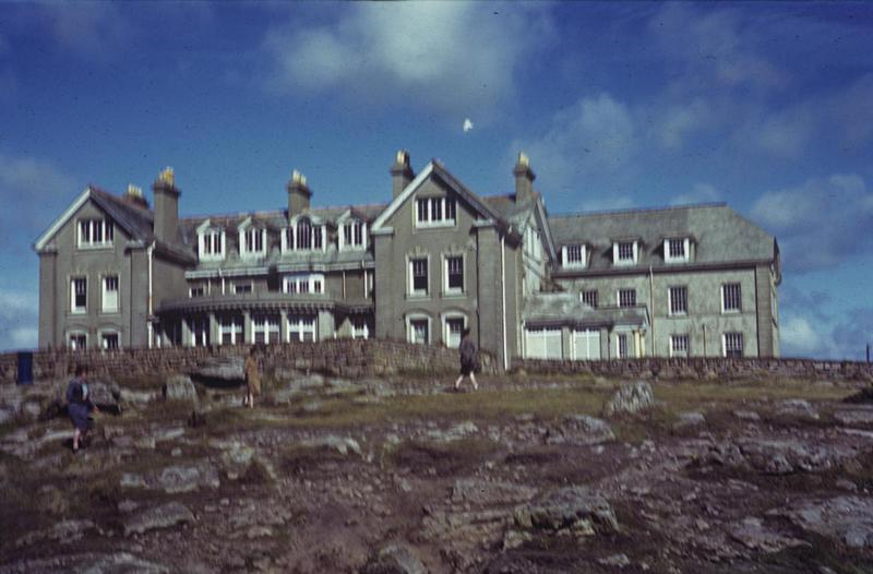 The Bonlea Hotel at Lands End. Image by Robert Astrella, 7th Photographic Reconnaissance Group . Written on slide casing: 'Land's End.'