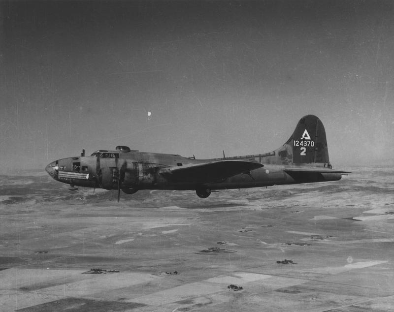 A B-17 Flying Fortress (serial number 41-24370) nicknamed