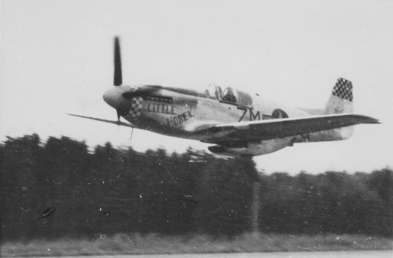 A P-51 Mustang, coded ZM-Q,  serial number 42-103358 and nicknamed