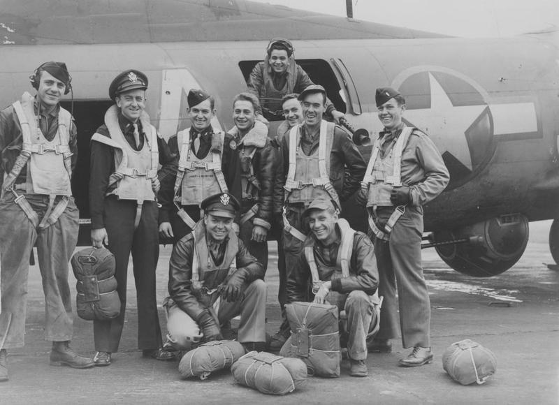 The crew of the 305th Bomb Group B-17 Flying Fortress nicknamed