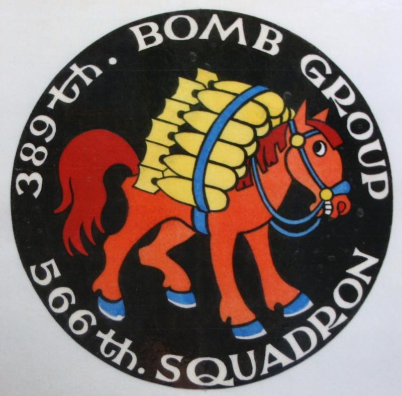 Insignia for 566th Bomb Squadron, 389th Bomb Group based at Hethel.