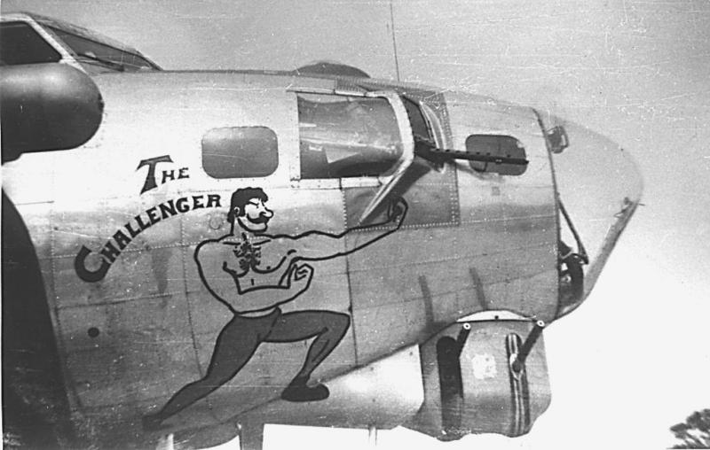 42-102501 BK-H, THE CHALLENGER, 384th Bomb Group, 546th Bomb Squadron