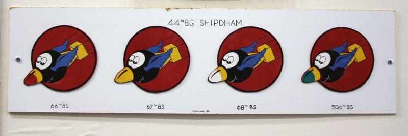 Insignia of Bomb Squadrons of 44th Bomb Group based at Shipdham, Norfolk.