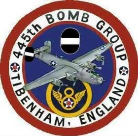 445TH Bombardment Group (Heavy)  Original artwork did not have tail markings, Those were added by the 445th's unit historian - Mike Simpson
