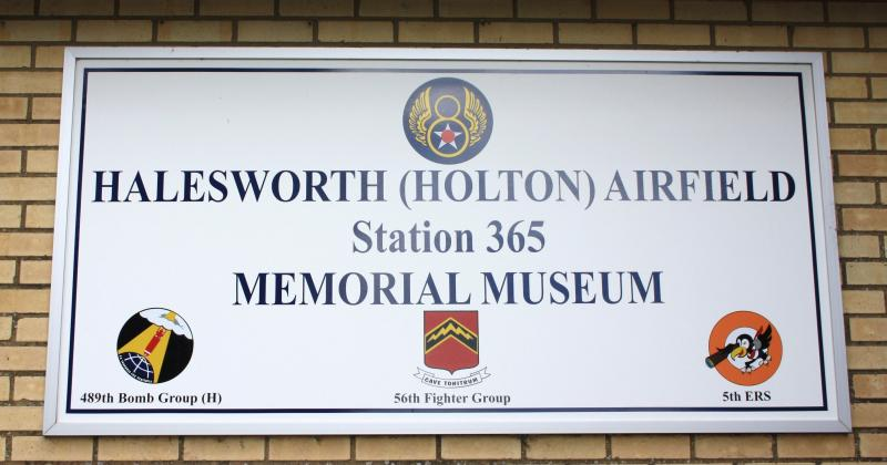Sign at Halesworth Airfield Memorial Museum.