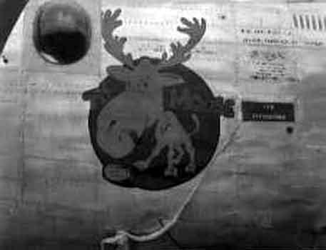 The Moose, 853rd Bomb Squadron, 491st Bomb Group. Lost over Misburg, November 26, 1944.