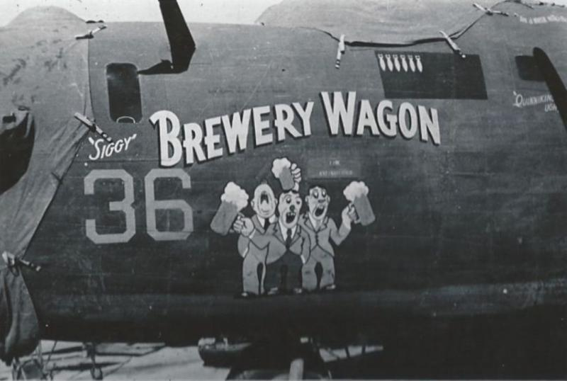 B-24 Liberator 41-24294 'Brewery Wagon' nose art.
