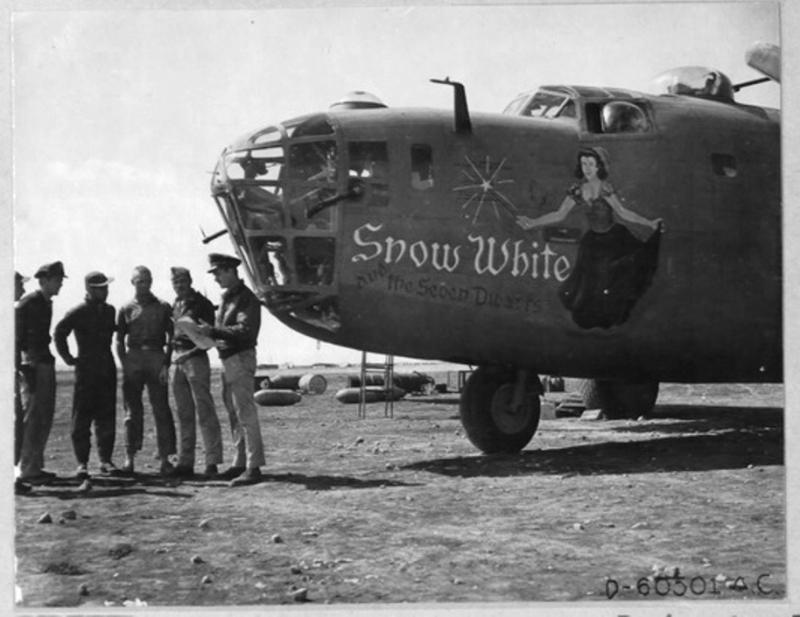 B-24 42-40364 'Snow White and the Seven Dwarfs' of the 343rd BS, 98th BG, 9th AF. lost on the Ploesti oil refinery raid.
