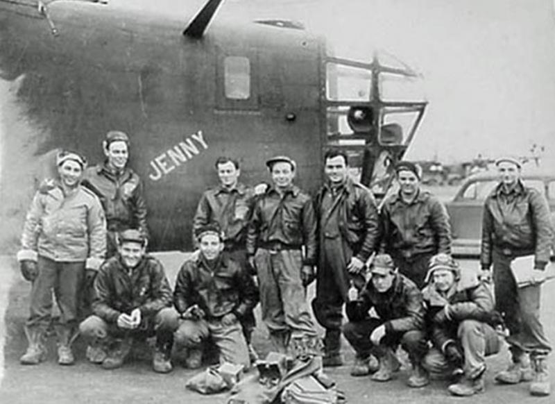 The B-24D Liberator, 41-23778,  Jenny.   Later, named, Lady Luck, it was assigned to the 66th Bomb Squadron, the 44th Bomb Group, and the 8th Air Force.  Pilot Rocco Curelli and his crew flew on the, Ploesti oil refinery mission and returned safely to Libya. 1  Aug 43.   -   Later, aircraft, named, Lady Luck, was lost on the attack on Foggia airfields while on TDY to the 9th Air Force.   Pilot Rocco A. Curelli.   9 (KIA ) -  1 (POW).    MACR  2141  -    3150.