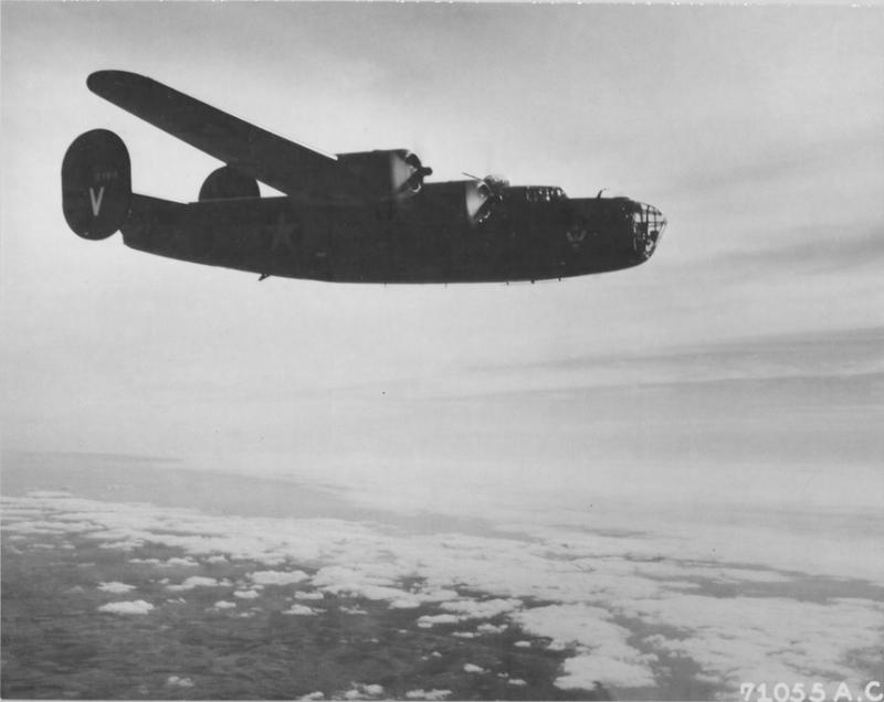 B-24D Liberator, 41-23813,  Victory Ship, in the 68th Bomb Squadron, the 44th Bomb Group, and the 8th Air Force, survived Operation Tidal Wave over Ploesti, Romania.    1 Aug 43.
