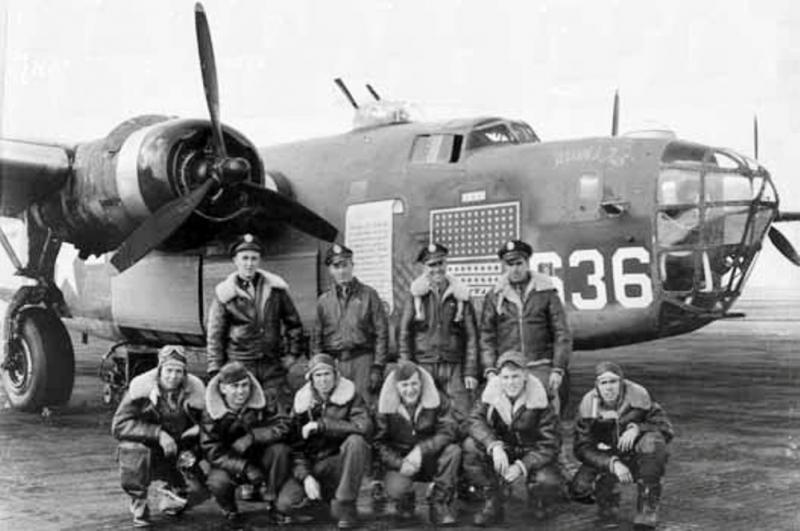 B-24 Liberator -  #41-11636 -  'Wash's Tub' -  in the 514th Bomb Squadron, the 376th Bomb Group, and the 9th Air Force. It was  originally a Halpro  (Halverson Project)  aircraft.  #24, then, was transferred to 98th Bomb Group before being sent to the 376th Bomb Group. It was flown by the James Bock crew on the low-level mission to Ploesti, Romania.  August 1,1943.  Recoded #636 at the end of the war bond tour when it became a training aircraft.