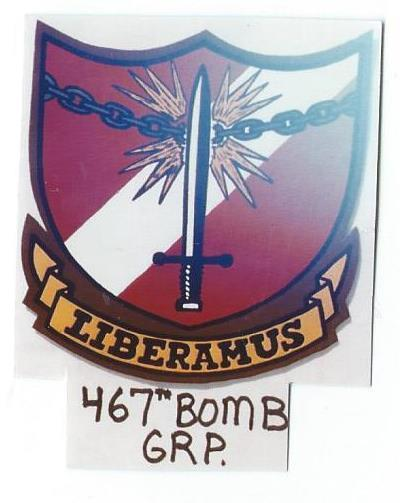 467th Bombardment Group (leather patch)