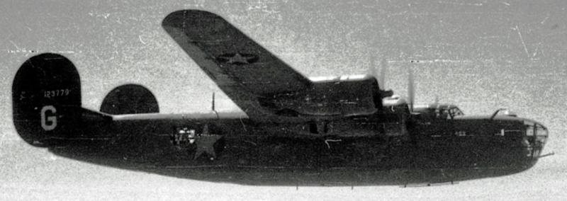 B-24 Liberator #41-23779 '4Q2' 67th BS, 44th BG, 8th AF, A/C flew on 1st Aug 43 Ploesti oil refinery raid, returning safely to Libya.  A/C later sent to attack V1 launch sites in the Pas de Calais, France ( code No Ball ). There was no flak over the target, but the enemy sent about 20 fighters up, Me109 and Fw190's carried out head on attack, '4Q2' was hit in #2 engine and sent into a downward glide, exploding shortly thereafter, 3 chutes were seen, one alight. Plane crashed near Grandcamp, France. 2 POW 8 KIA. MACR 2362.