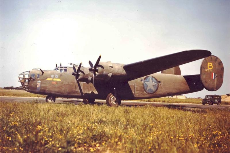 The Consolidated B-24D-1-CO   -   41-23711  -    ' Jerks Natural ' of the 328th Bomb Squadron, the 93rd Bomb Group, and the 8th Air Force at RAF Alconbury, England, 1942.  This photo taken at Gambut Airfield, now Kambut Airfield, Libya.  Feb. 1943. The aircraft flew the on the Ploesti mission, diverting safely to Sicily.  Aug 1, 1943.