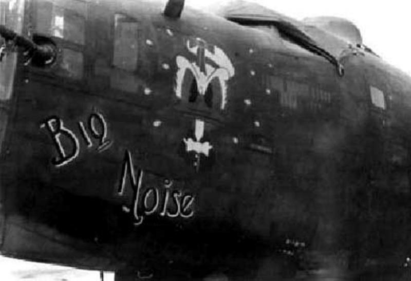 B-24 Liberator #42-40969 'Big Noise' 330th BS, 93rd BG, 8th AF, flew on the 1 Aug 43 Ploesti mission but had to abort. Later was interned in Switzerland on the 16th Mar 44 on the Friedrichshafen mission.