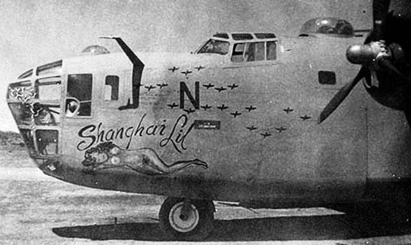 B-24 Liberator #41-11767 'Shanghi Lil' flew on 1st Aug 43 Ploesti oil refinery raid, aborting before target. Lost to enemy action 24th Oct 43, over Italy, Pilot Alfred J Thomas. MACR 1061.