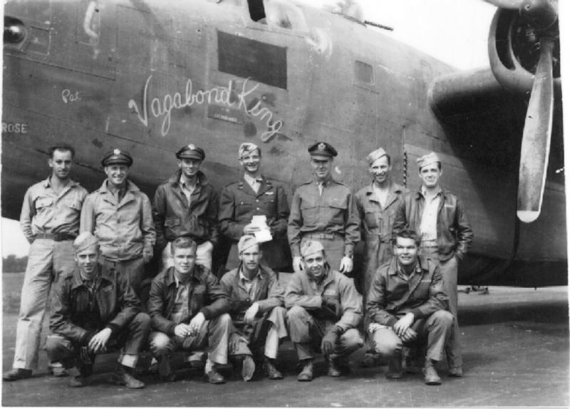 B-24 Liberator #42-40787 'Vagabond King' 565th BS, 389th BG, 8th AF and crew, flew on 1st Aug 43 Ploesti raid piloted by John B McCormick, diverting safely to Cypress.
