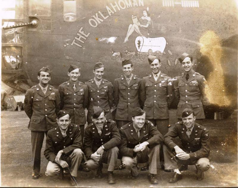B-24D  Liberator -  #42-40738  -  'The Oklahoman' and Crew  :  