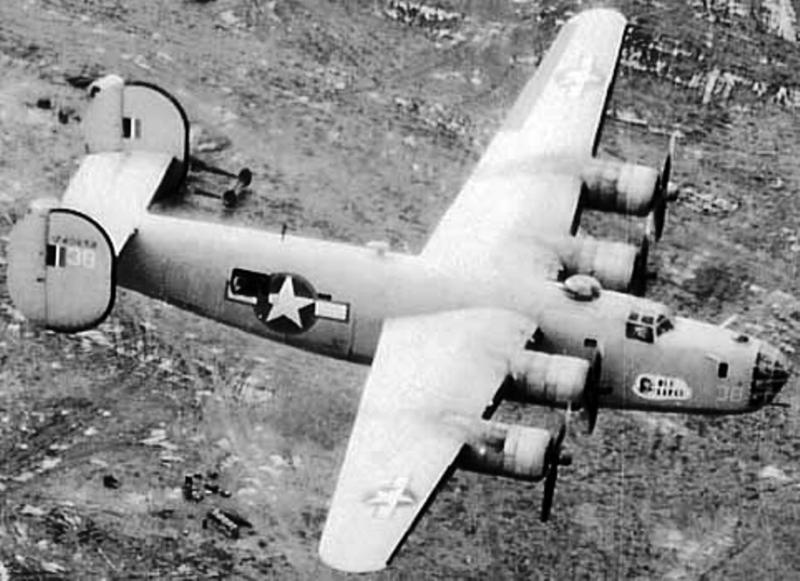 Liberator B-24D #42-40658 'Ole Sarge' 512th BS, 376th BG, 9th AF, flew on 1st Aug 43 Ploesti oil refinery raid piloted by James I Miller, diverted to Cyprus. Shot down by a Me 109G-6 on 28th Dec 43 southwest of Vincenza, Italy. 4 KIA, 6 POW. MACR 2454 and 1611