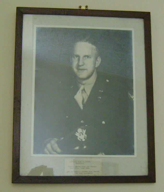 Captain Earl O Widen, Chaplain, 389th Bomb Group. This photo hangs in Fairland United Reformed Church, Wymondham