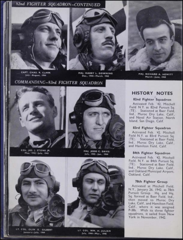Page 106 of the Duxford Diary.  Many of the 8th Air Force Groups produced an unofficial unit history in the months after the war ended in Europe but before they were redeployed out of the ETO ('European Theater of Operations'). The Duxford Diary was the book created by and for the service personnel who were based at Duxford at the end of the war in Europe, as a memento of their time at the airfield.  Resembling a college yearbook, unit histories were an unofficial – and often tongue-in-cheek – record of the unit's time in the UK. They include photo montages showing different aspects of base life. Often the servicemen in the photos are unnamed. The American Air Museum hopes that by adding unit histories to the website as individual pages, the men in the photos will be identified and associated to their person entries.