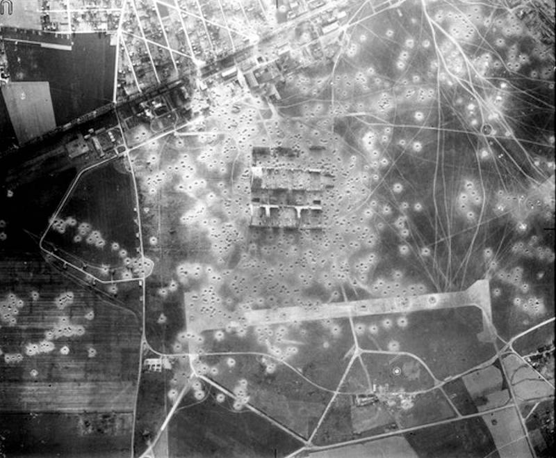 Orly Airfield - 6 June 1944 Taken after to 8th Air Force bombing raids