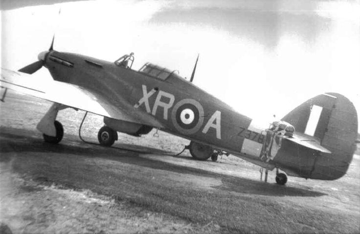 No 71 (Eagle) Sqn Hawker Hurricane Mk I XR-A Z3781 personal A/C of Fl Lt George A Brown, whilst commander of A flight, at dispersal hooked up in preparation with the trolley ack and with parachute left at hand for a fast scramble on the tail plane.  Part of the fifth production batch produced by Hawker Aircraft Limited at Langley, to contract # 62305/39, between 14th January, 1941 and  28th July, 1941. Lost on 8th October 1941, Fl Lt Andrew Beck Mamedoff was flying with 133 Squadron on a standard transit flight from Fowlmere Airfield to RAF Eglinton in Northern Ireland in his Hurricane Z3781. The wreckage of his plane was found near Maughold on the Isle of Man and it is thought that he crashed due to poor weather conditions.