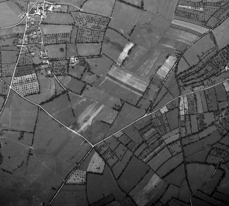 The remains of Cretteville Airfield A-14 Advanced Landing Ground A-14 photo taken in 1947