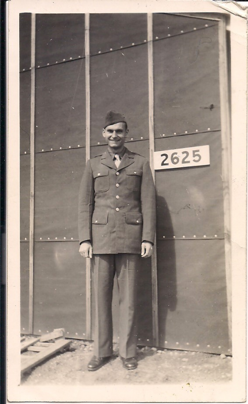 Victor Ciganek at Army Air Forces Technical School,  Madison, WI  1942