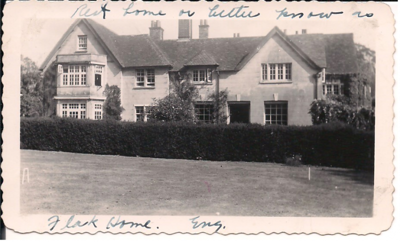Moulsford Manor, the rest home where crew of Destiny's Tot # 42-3119 were sent after ditching in the North Sea on July 26, 1943.
