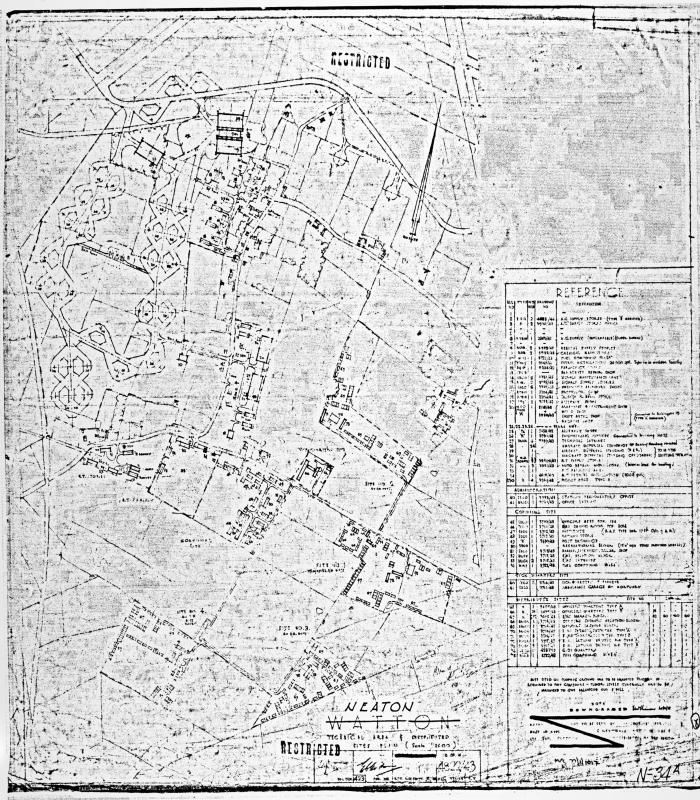 Official Air Ministry Record Site Plan- Dispersed sites 1943. Neaton.