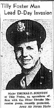 """From the front page of """"The Putnam County Courier"""", 20 July 1944."""