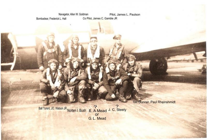 388th bomb Group H, 563rd Group Squadron, Knettishell. England  Paulson Pilot. Madam Marie