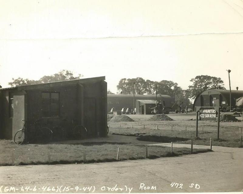 Headquarters and Orderly Room for the 472nd Sub Depot at Attlebridge.  15 September 1944