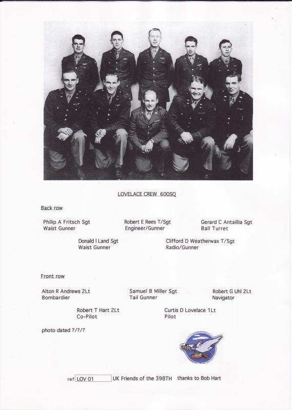 Officers and crew of B-17G 42-97380