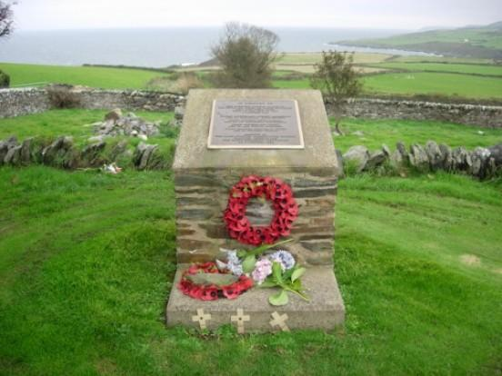 A memorial to the four** No 133 Sqn pilots who lost their lives' on the Isle of Man was dedicated at Maughold church yard on the east coast of the island. ** Andy Mamedoff, William White, Roy N Stout, and Hugh McCall.