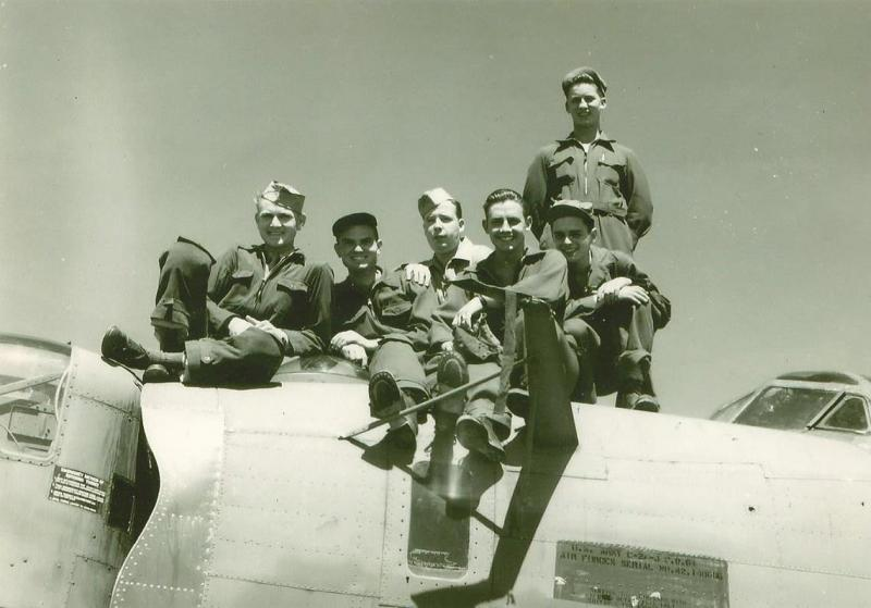 Crew #731 (Richard Baynes Crew) enlisted men  Sitting Left to Right:  John Gattis (WG), Lester Walters (FE), Harvey Walton (WG), Linwood Wheeler (BTG), Lester Nichoson (R/O)  Standing:  Harold Bailey (TG)  The serial number on the aircraft appears to be 42-140666.  The only problem with that is not a number that was issued to any U.S. aircraft, B-24 or not.  The model appears to say
