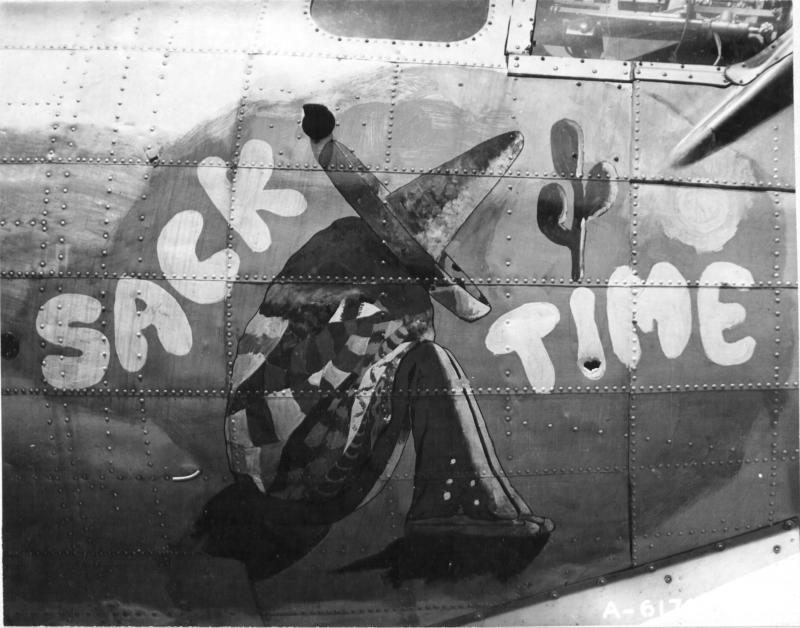 B-17 42-102544 427th BS, 303rd BG GN-K 'Sack Time', 110 missions, lost on mission to Dresden 17th April 45.