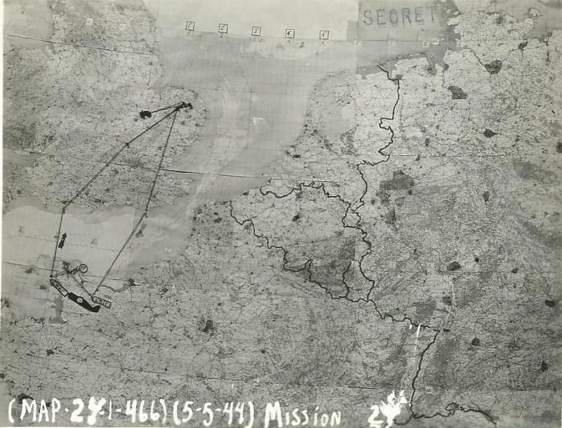 466th BG Mission Route Map