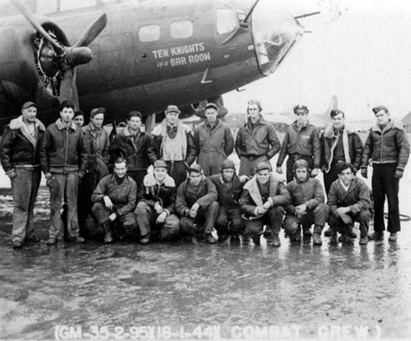 Flying Fortress B-17F 42-30353 'Ten Knights in a Bar Room' and crew.