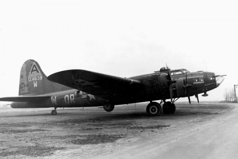 Boeing B-17F-27-BO Flying Fortress 'The Careful Virgin' 41-24639 code OR-W of the 91st bomb group 323rd BS.